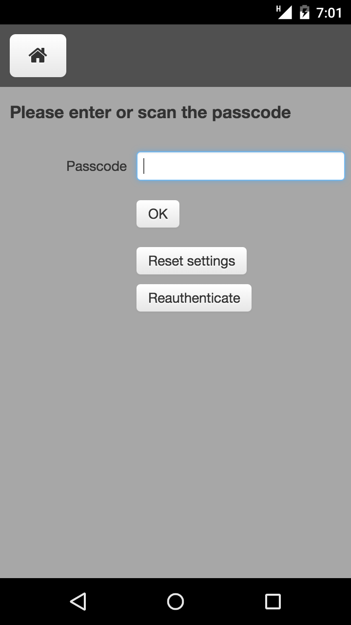 CCO-Track And Trace - Settings authorization view